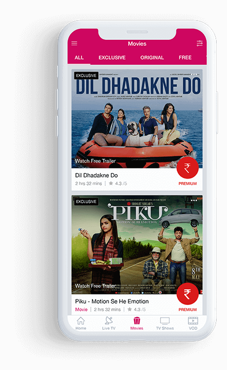Quick Video Recommendations through Mobile Apps